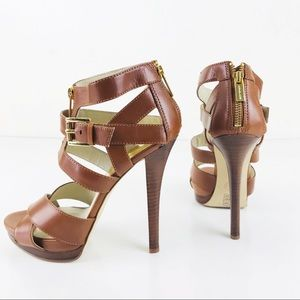 Michael Kors ST14J Platform Strappy Sandals Shoes